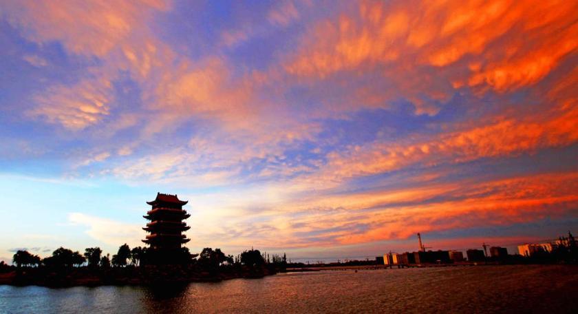 cielo al tramonto nuvole